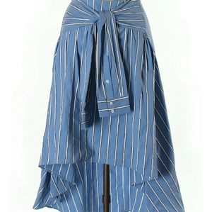 Zara Blue Stripped Faux shirt Skirt